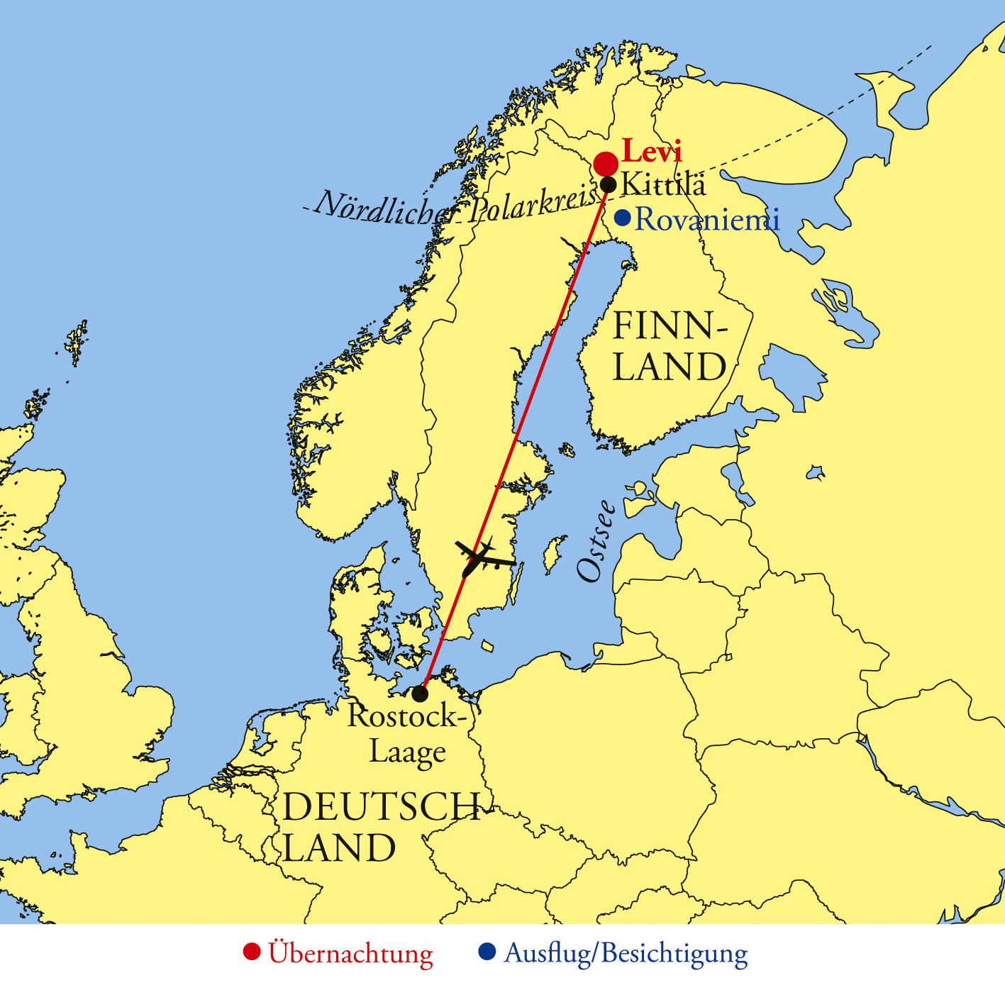 Lappland Karte.Lappland Levitunturi Hullu Poro