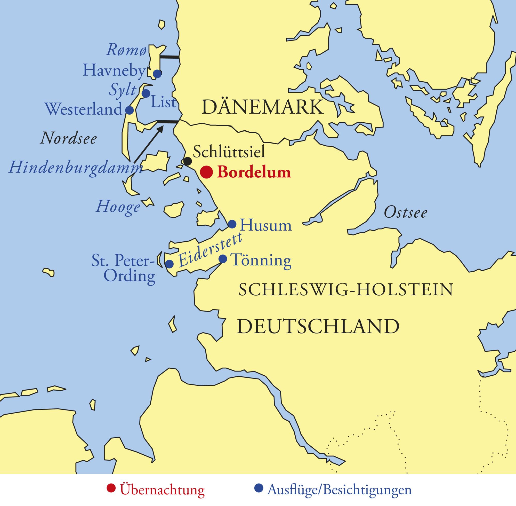 Dänemark Nordseeküste Karte.Nordsee