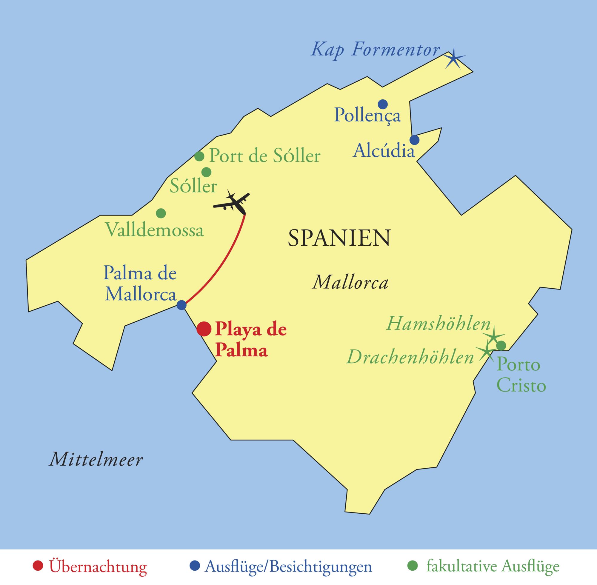 Mallorca Karte Alcudia.Mallorca
