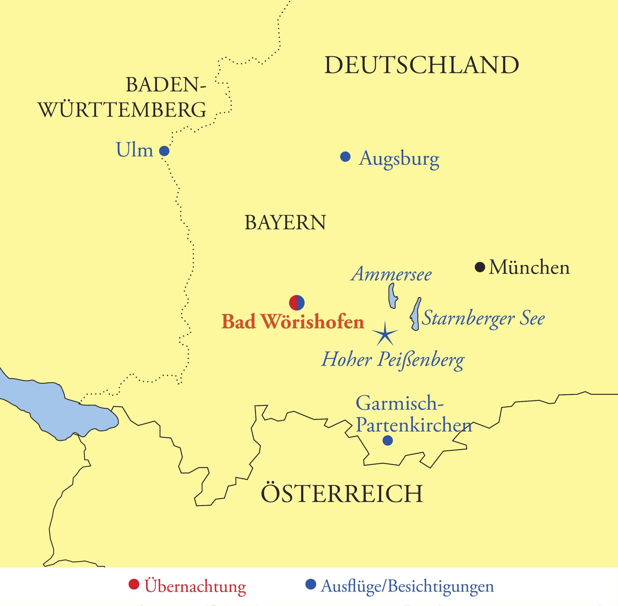 Schwaben Karte Deutschland.Unterallgäu Bad Wörishofen